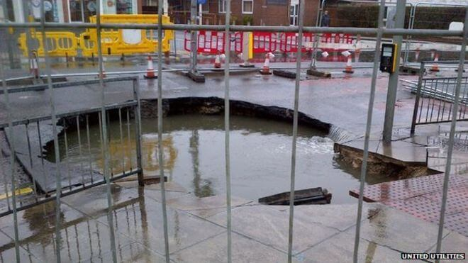 Sewer Collapse Hits London Train Services