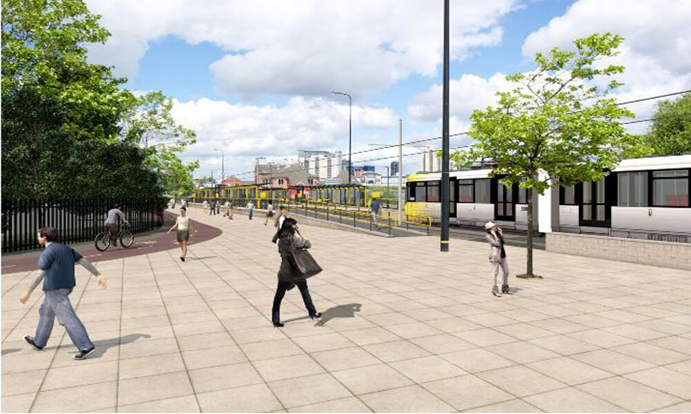 Go-ahead for £350m Manchester extention Trafford tramline Metrolink