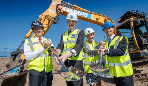 WORK OFFICIALLY STARTS AT NOTTINGHAM'S UNITY SQUARE