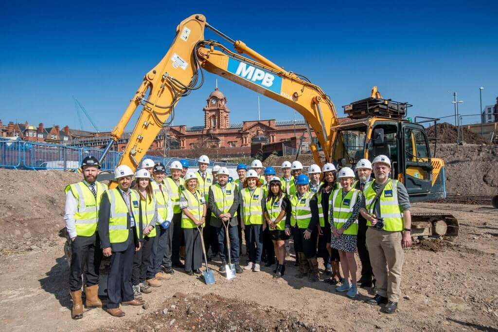 Ground breaking at Unity Square, Nottingham