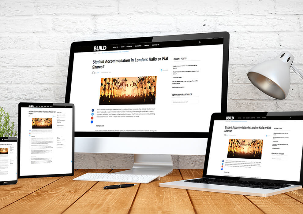 website builder responsive design screen multidevices