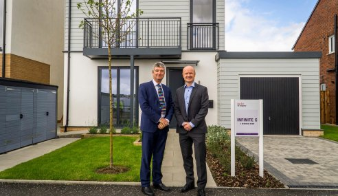 RTPI President visits Taylor Wimpey's Project 2020  at Dargavel Village, Bishopton