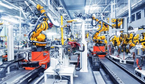 Has technology improved productivity in manufacturing?
