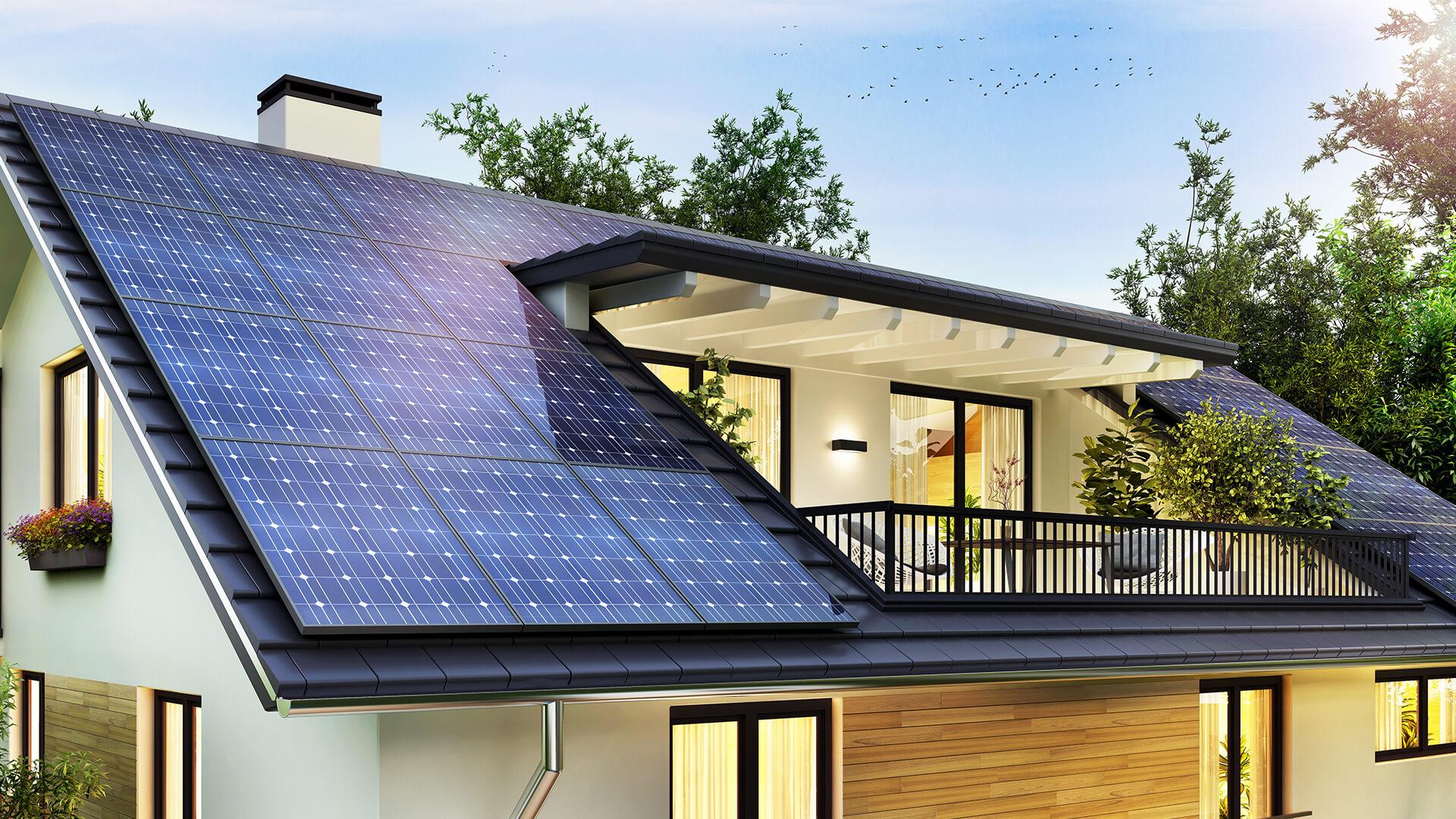 Solar paneled house