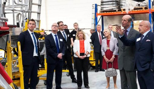 Engineering company celebrates royal presentation of Queen's Award for International Trade