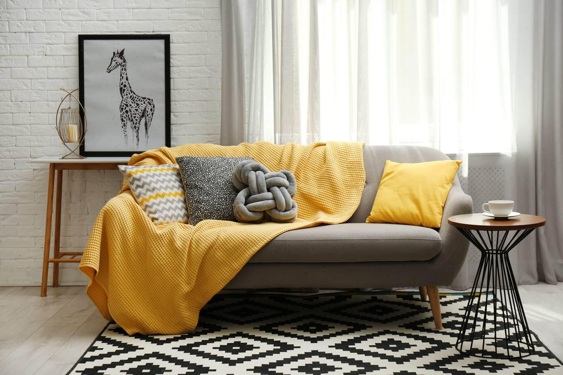 yellow and grey interior