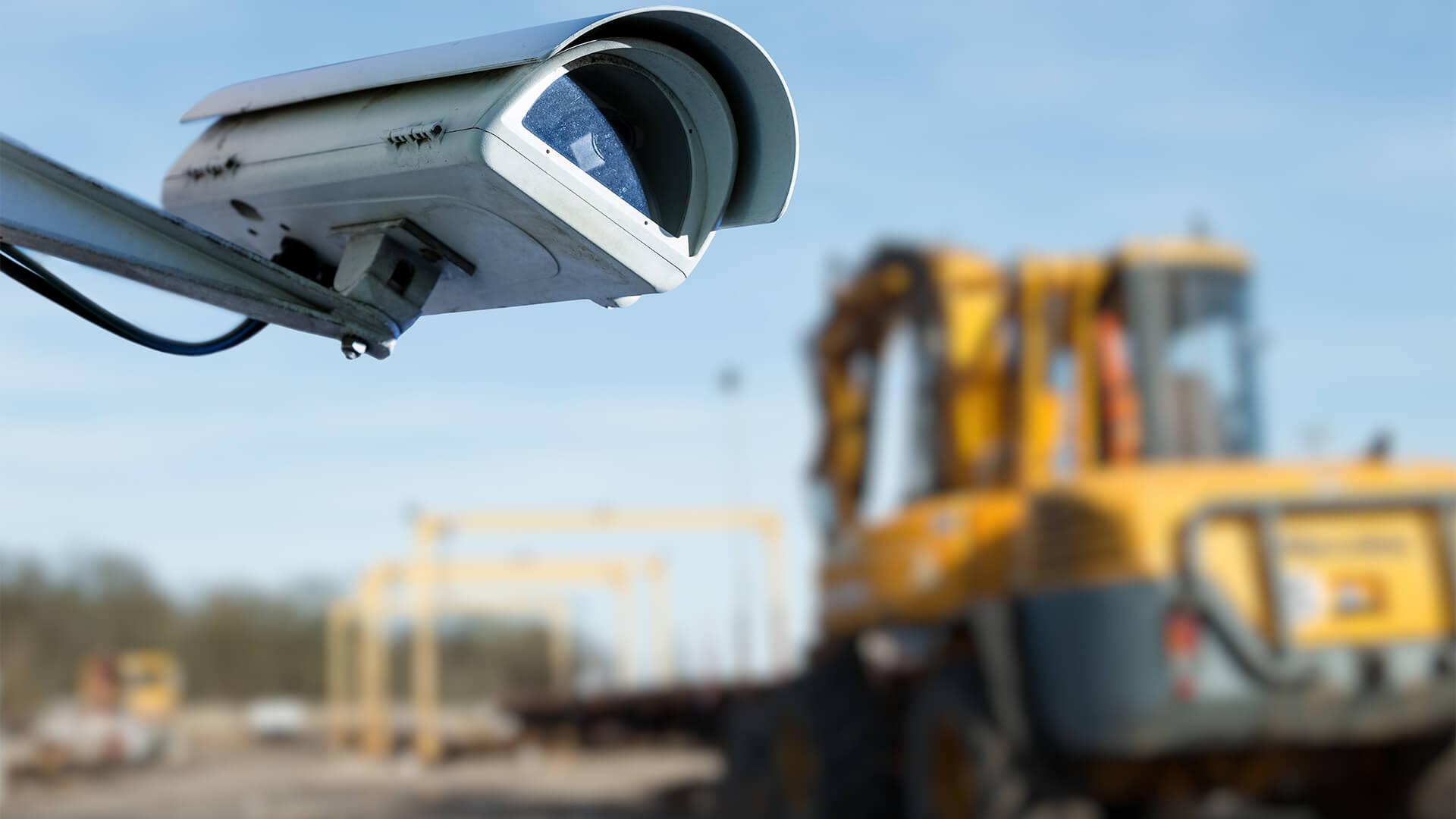 CCTV on a construction site
